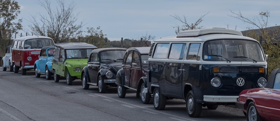 Rent for a vintage tour in Tuscany, incentives or team building