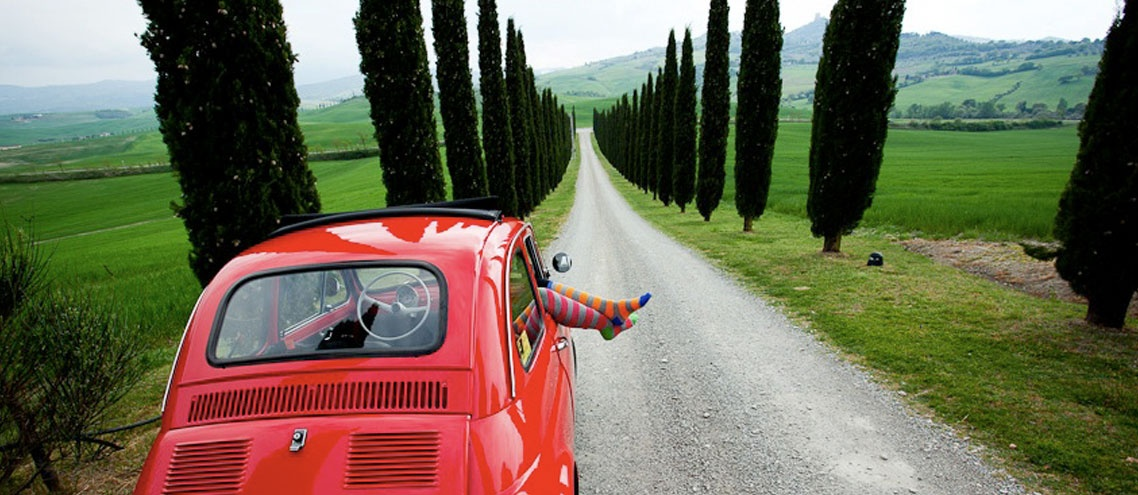 vespa, Fiat 500, Bully and more rent them and drive a tour in Tuscany