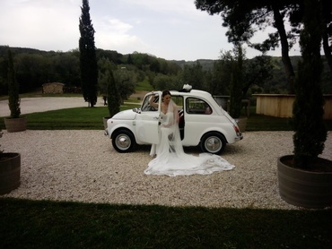 Fiat 500 wedding rent